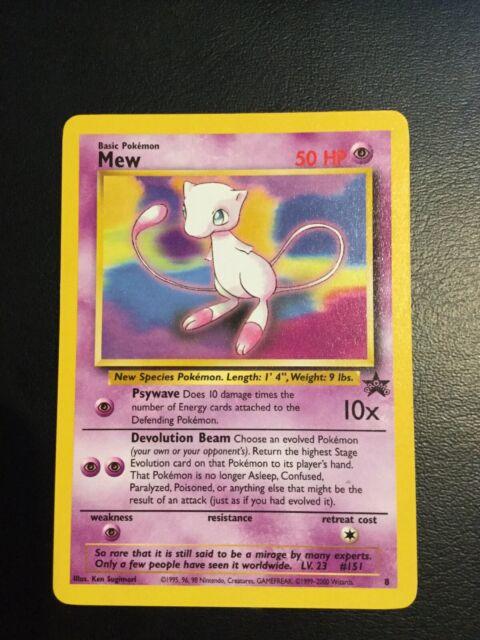 OLD Original Vintage Wotc Pokemon Card Black Star Promo Mew #8 Near Mint