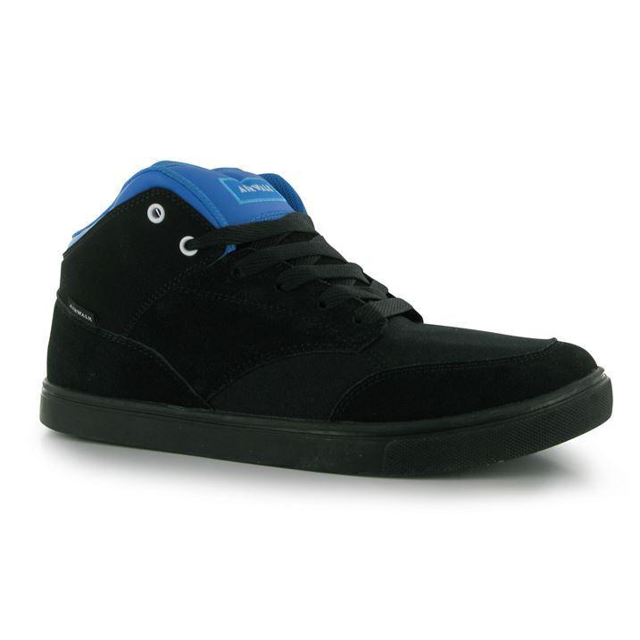 Airwalk Breaker Mid Top Skate Homme Chaussures Décontractées à Lacets Baskets Noir Bleu 8