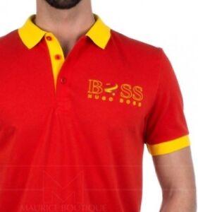 HUGO-BOSS-POLO-SHIRTS-PADDY-FLAG-SPAIN-Size-XL-Espagne