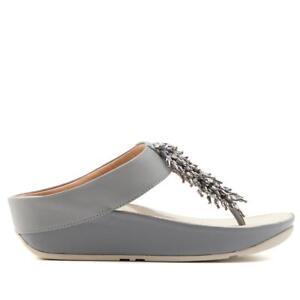 b5d0d9de9a6 FitFlop Womens Sandals Rumba Toe Thong Dove Blue Size 9 for sale ...