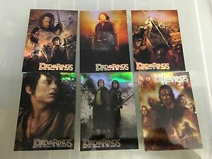 Lord-Of-The-Rings-Hobby-Japan-Rare-Exclusive-Foil-Promo-Set-PR2-PR7
