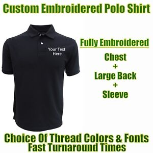 4999c971 Image is loading Custom-Embroidered-Personalised-Polo -Shirts-4-Builders-Technicians-