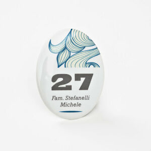 Numeri Civici Targa In Ceramica Ovale F To 11x15 Cm Insegna Esterno