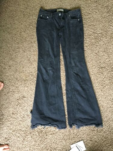Free People Women's Size 24 x 33 Inseam Faded Blac