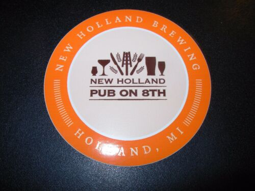 NEW HOLLAND BREWING Pub On 8th Michigan STICKER craft beer brewery dragons milk