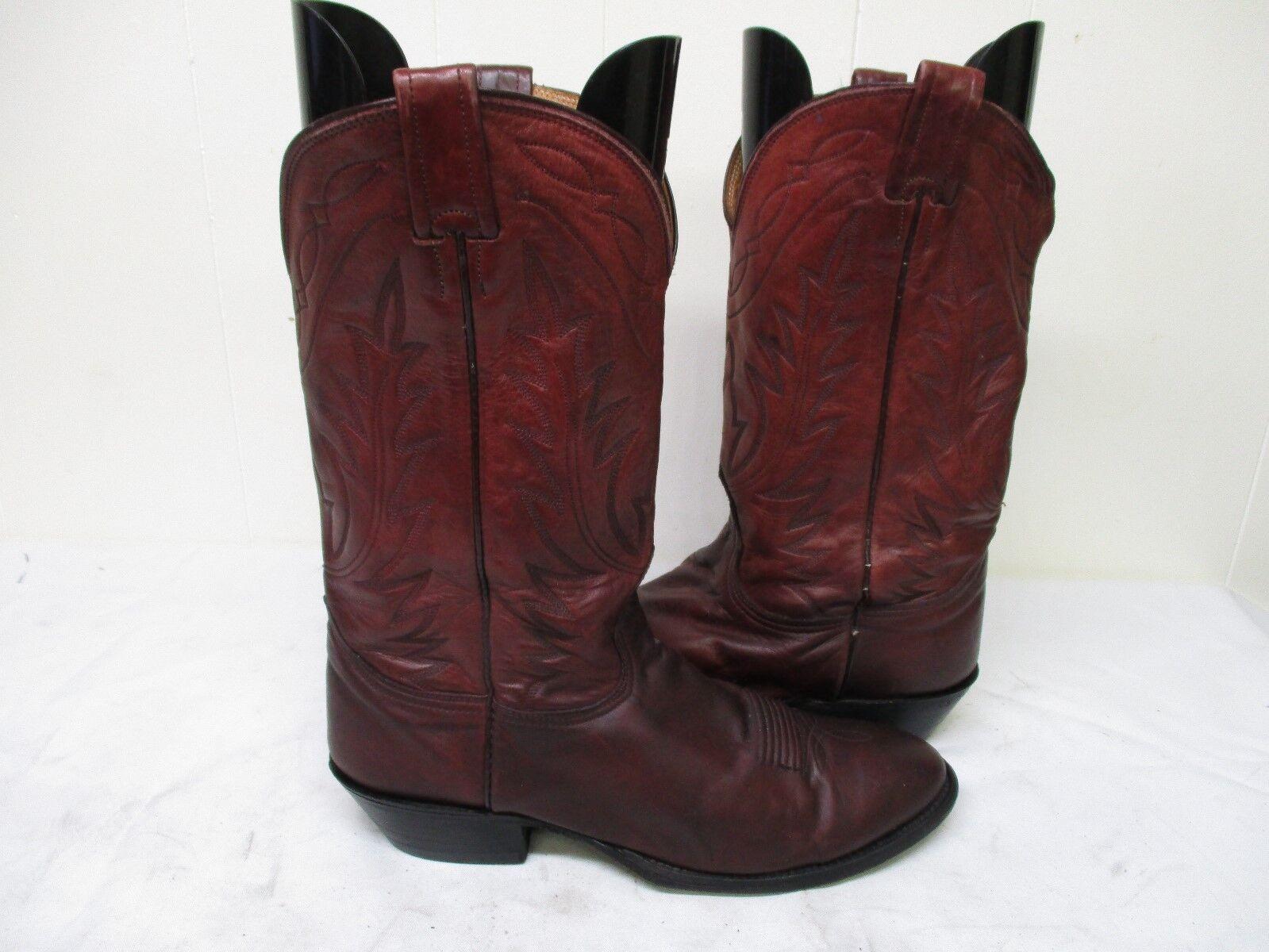 Nocona London Tan Soft Leather Cowboy Boots Size 10 D Style T820C USA