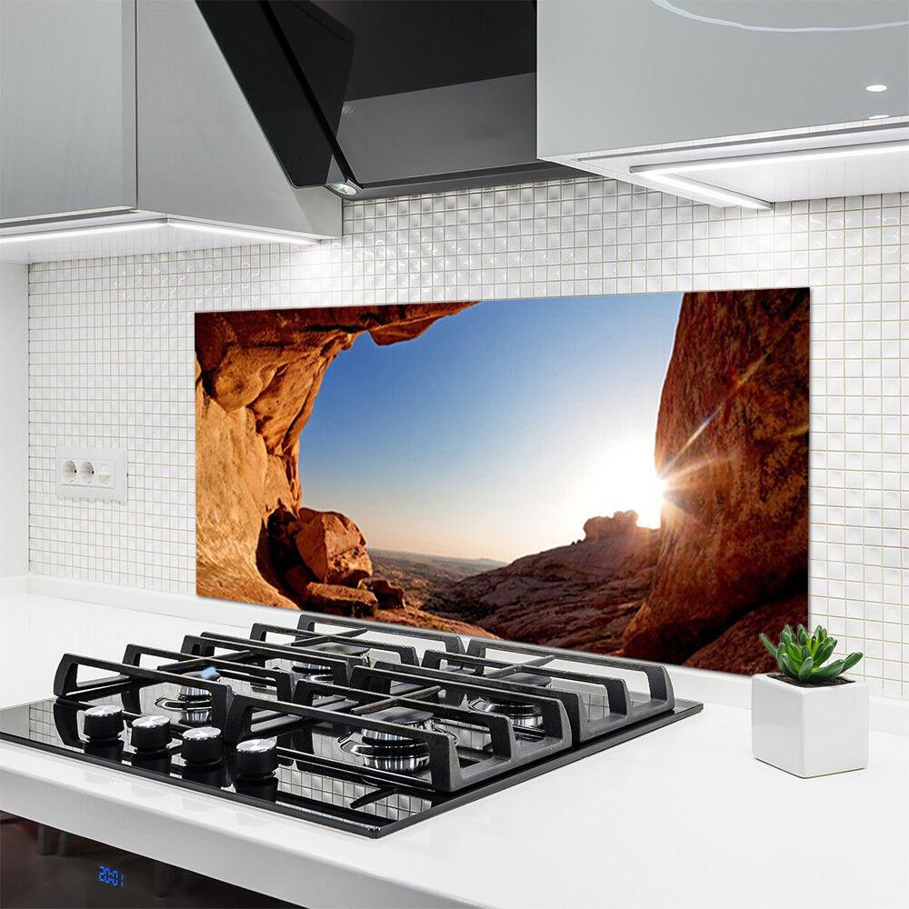 crédence roche de cuisine en verre panneau 120x60 paysage roche