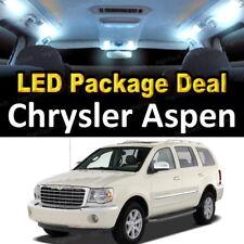 10Pc Super White Car Interior LED Light Bulb Kit for 2007-2009 Chrysler Aspen