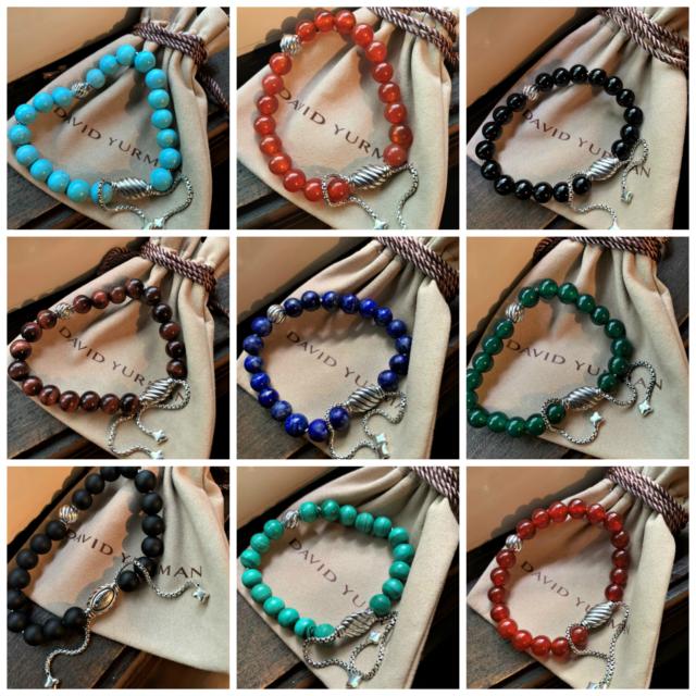 9862635f8d97d $495 David Yurman SS 925 Spiritual Beads Bracelets with Silver Accent Bead,  8mm