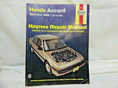 1984-1989 HONDA ACCORD HAYNES SERVICE REPAIR MANUAL #42011 ...