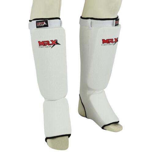 MMA Shin Protector Pads MRX Muay Thai Instep Guards Training Leg Pads Taekwondo