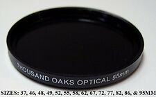 Thousand Oaks Threaded Black Polymer Solar Filter for Cameras 52mm Astronomy