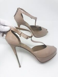 Womens-VALENTINO-Nude-Beige-Patent-leather-heels-size-39-1000