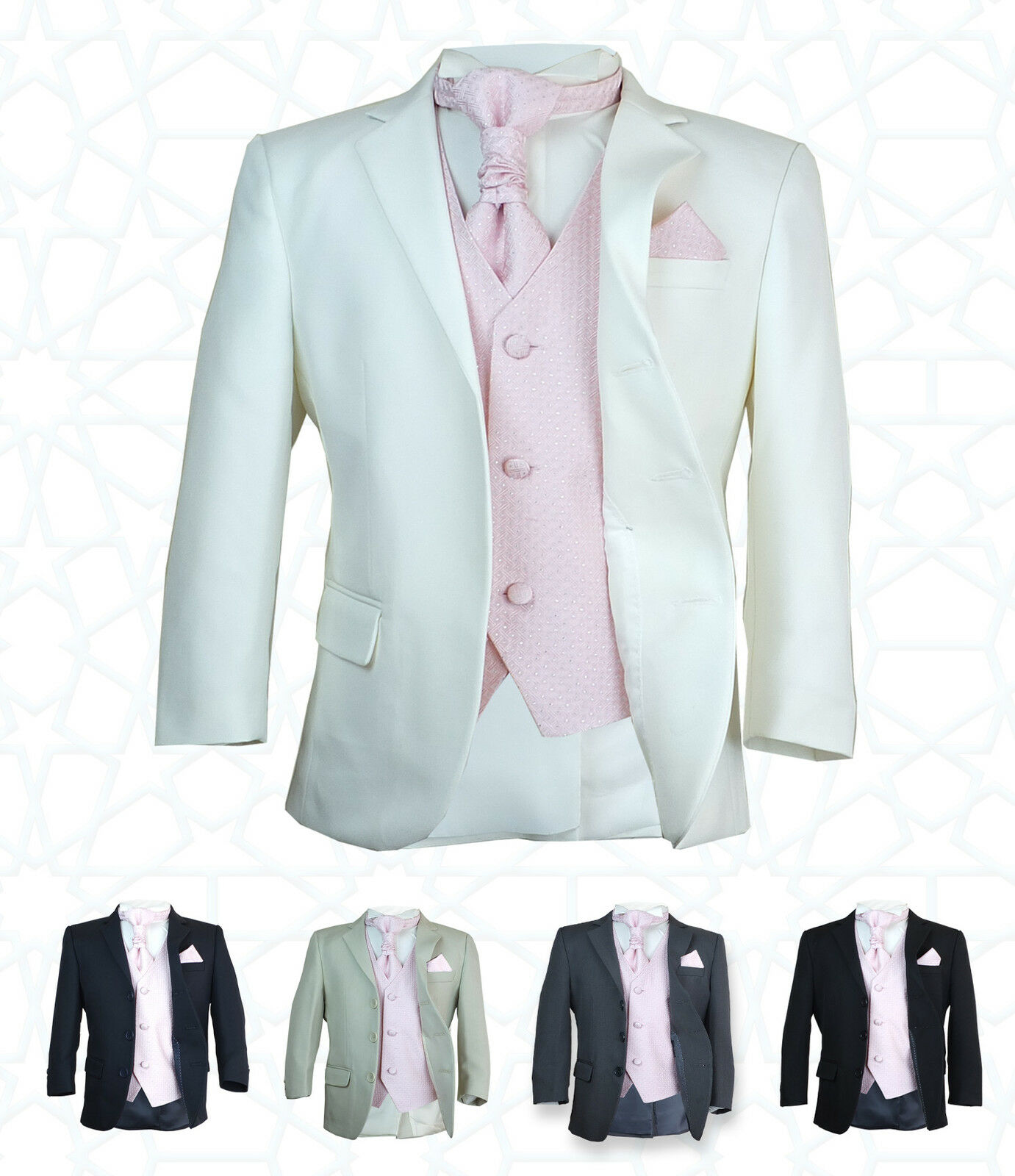 Sirri Boys 5pc Formal Wedding Suits Pink Cravat Prom Page