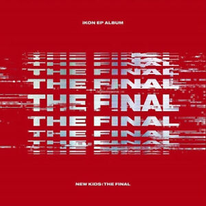 IKON [NEW KIDS:THE FINAL] EP Album RED Ver CD+Photo Book+P.Card+St<wbr/>icker+F.Poster