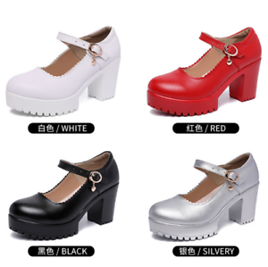 High-Heel-2019-Women-Platform-Shoes-Catwalk-Party-Prom-Heeled-Closed-Toe-Buckle