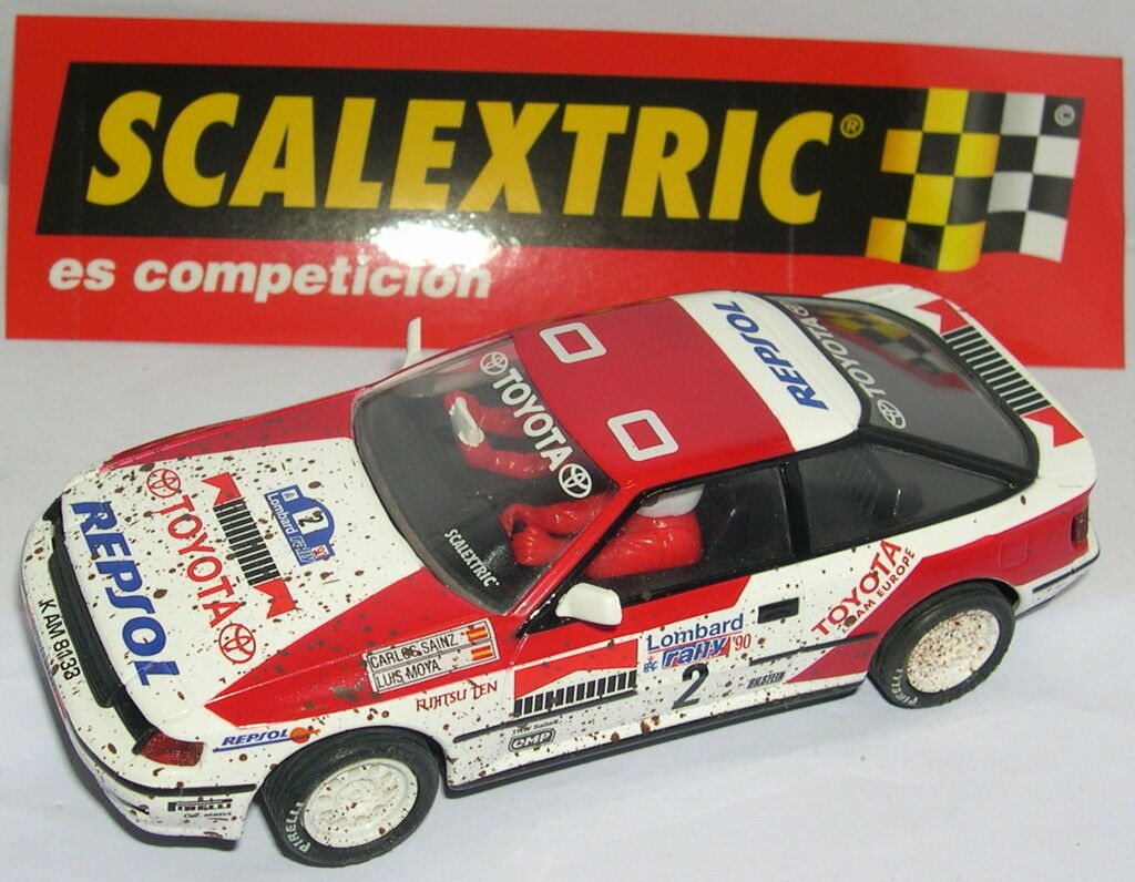 SCALEXTRIC ESPAGNE ALTAYA RALLY MYTHIQUES TOYOTA CELICA GT4  2 EFFET TERRE CUITE