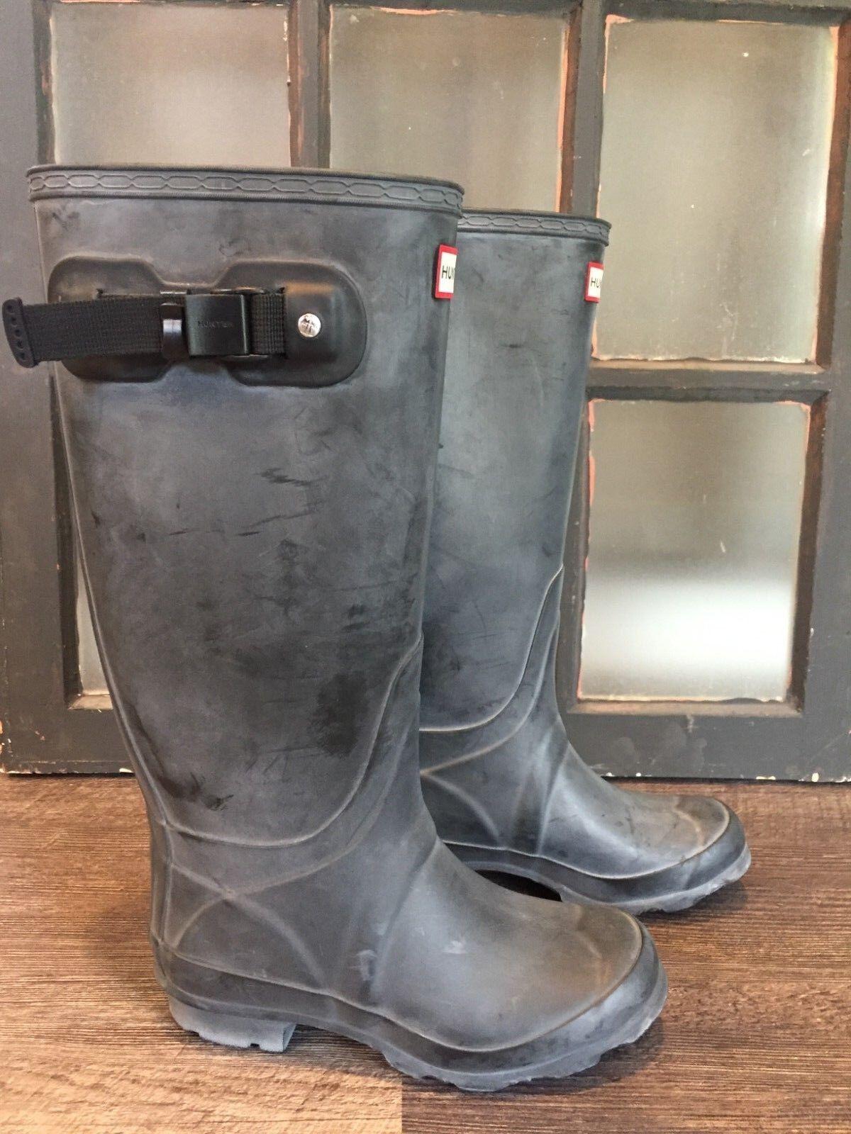 Hunter Hunter Hunter Original Huntress Matte Black Rain Boots Womens Size 5 - Small 379d68