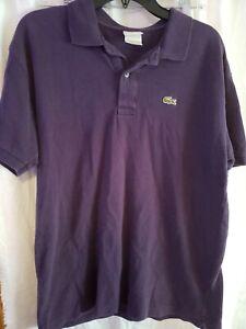 Lacoste-Polo-Short-Sleeve-Shirt-Mens-Size-6-Blue-Medium-100-Cotton
