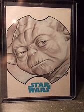 2015 TOPPS STAR WARS JOURNEY TO THE FORCE SKETCH SEAN PENCE YODA 1/1