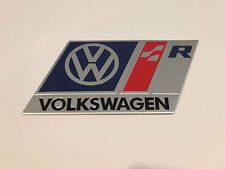 VOLKSWAGEN R LINE BADGE EMBLEM (blue) - fits VW GOLF GTI VR6 R32 MK 2 3 4 5 TDI