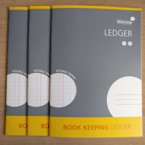 3 x A4 BOOK KEEPING LEDGER NEW Accounts Office Home Cash Books x 3