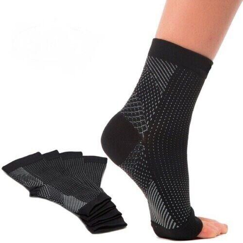 Open Toe Plantar Fasciitis Socks Women Girls Boys  Gym Yoga Ankle Support S//M