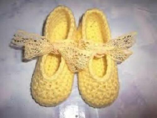 Yellow Hand Crochet Mary Jane Shoes For The My Size Barbie Doll
