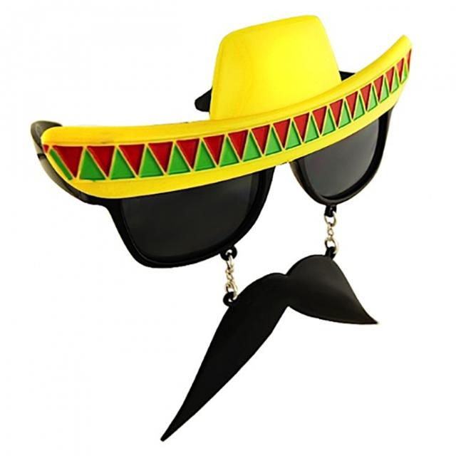 Mexican Fiesta Tequila Sunrise Cocktail PARTY GLASSES sombrero cinco de mayo