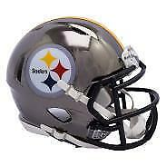 Pittsburgh Steelers Riddell Alternate Chrome Mini Helmet (New) Calgary Alberta Preview