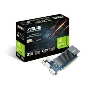 ASUS Geforce GT710 2GB Silencioso bajo Perfil Tarjeta Gráfica GDDR5 LP Soporte