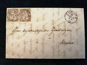 Schweiz-Brief-Stempel-1863-Zurich-Sitzende-Helvetia-2x-5-C-Nr-30