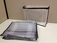Lot 10 Zippered Storage Organization Cube Bag 11 X 9 X 3 Clear Peva Plastic