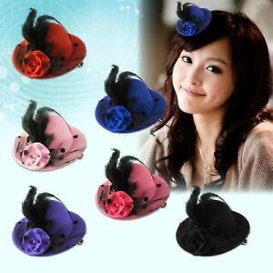 Elegant-Mini-Top-Feather-Hat-Fascinator-Hair-Clip-Party-Costume