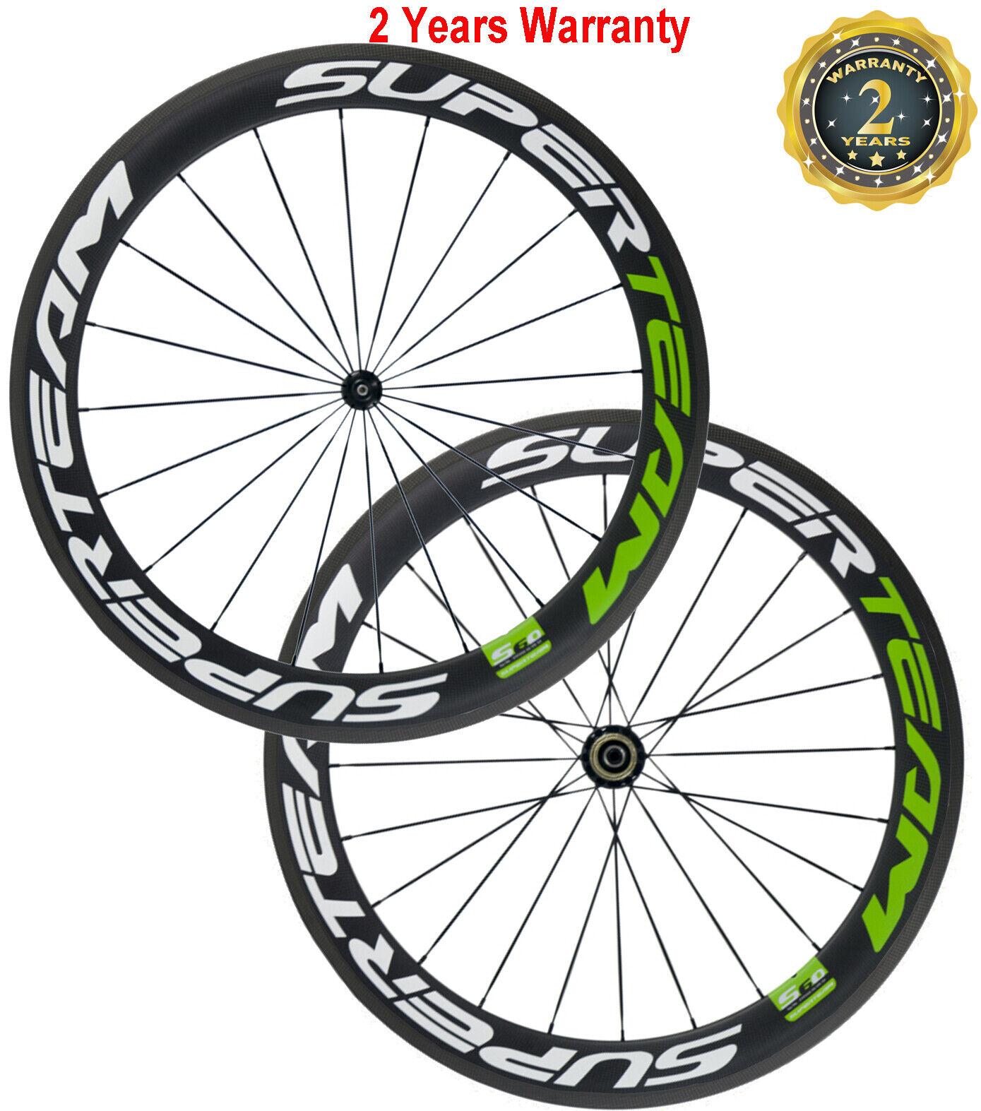 Carbon wheelset 60mm Rim Tubular 11-Fold Shimano  23mm Carbon Fibre Wheels  low 40% price