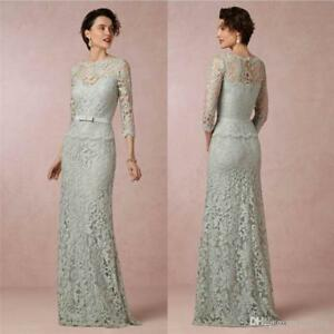 New-Arrival-Sheath-Mother-of-the-Bride-Dresses-Long-Gowns-Lace-3-4-Sleeve-Custom