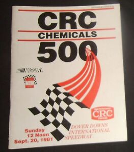 1981 Dover Downs Speedway CRC Chemicals 500 Nascar Winston