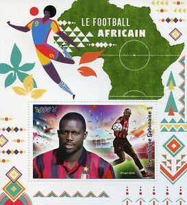 Gabon-2018-MNH-African-Football-George-Weah-1v-S-S-Sports-Soccer-Stamps