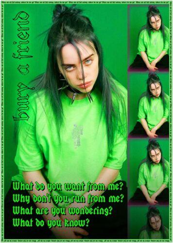 Billie Eilish Bury a Friend Large Poster or Canvas Art Print Maxi A1 A2 A3 A4