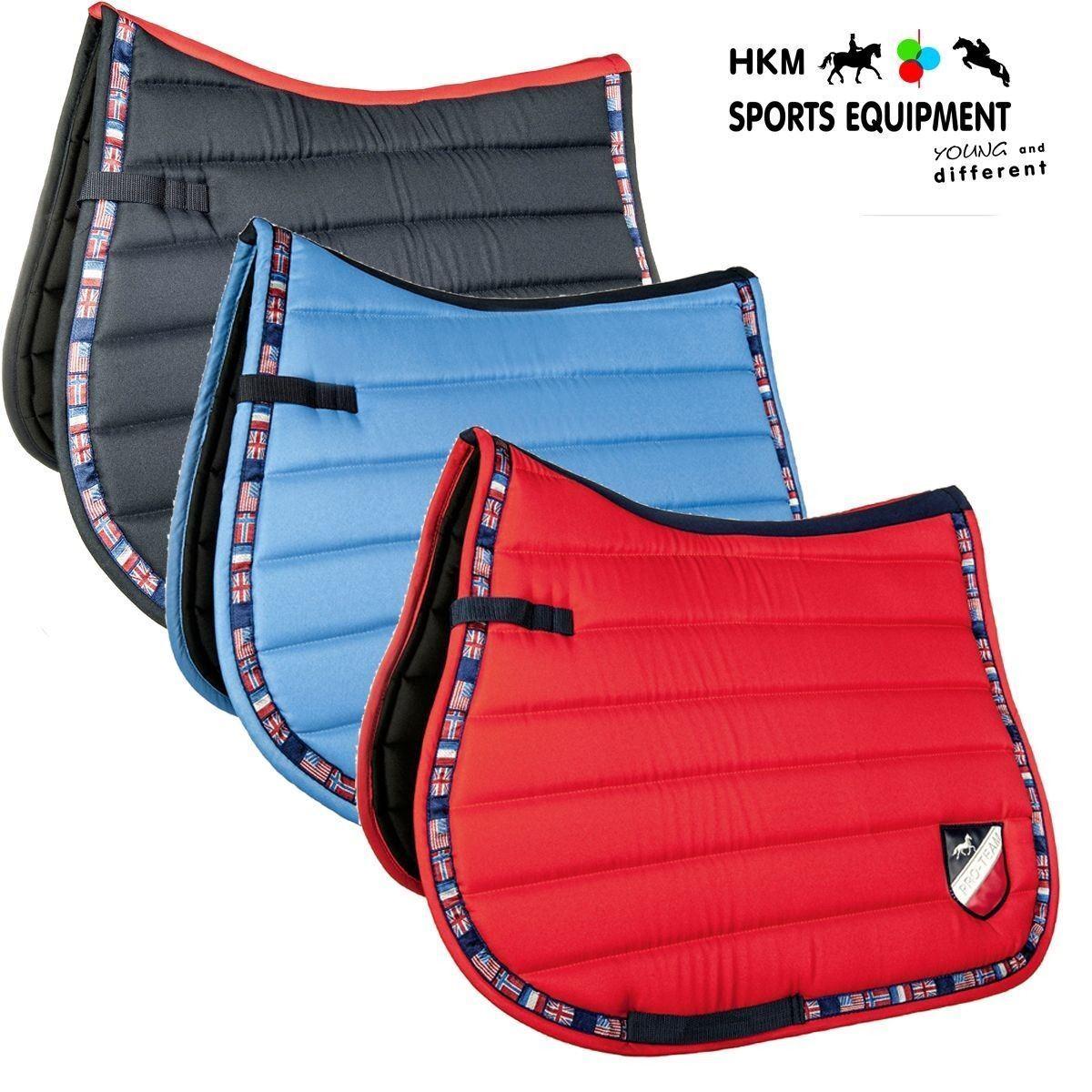 HKM  Pro Team International Flags Horse Riding Equine Numnah Comfort Saddle Pad  order now enjoy big discount