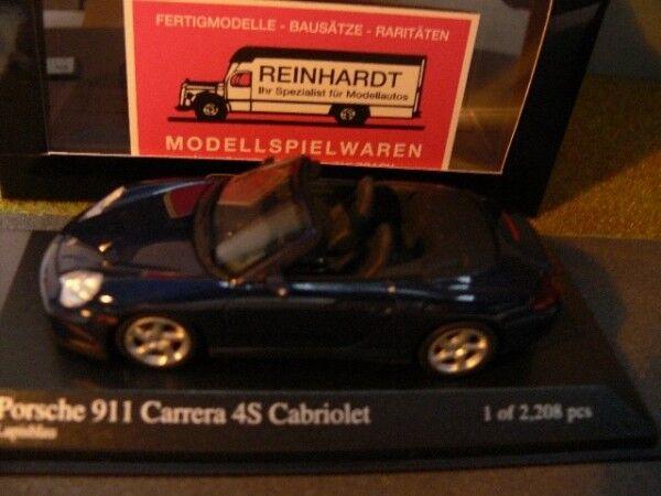 1 43 MINICHAMPS PORSCHE 911 4 S Cabriolet 2003 bleumetallic  400 062832