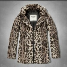 NWT Abercrombie& Fitch Womens Leanne Vegan Fur Coat Size: M