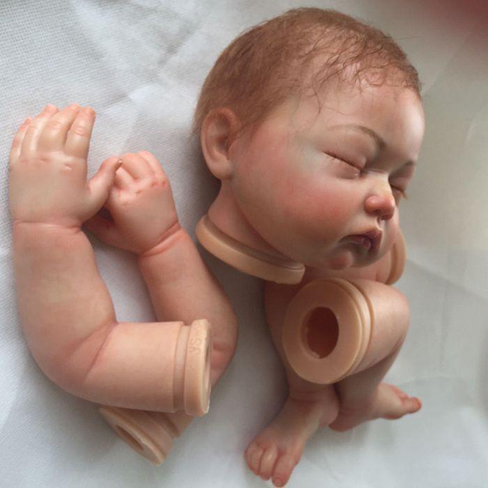 KIT Bambola Reborn 20-22  con i capelli radicazione dipinto e magnetico BOCCA realistico