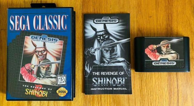 Revenge of Shinobi Sega Genesis CIB Complete Box Manual Cart MINT