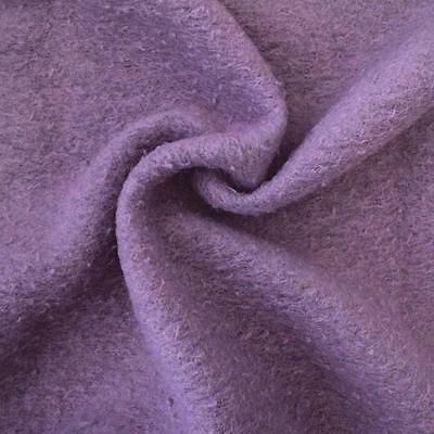 A573 - Boiled  / Felted Wool Jersey  Boucle Finish - Lavender - per half metre