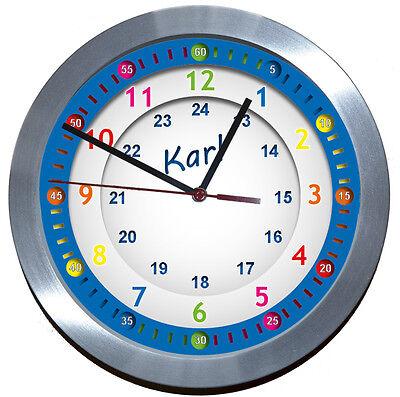 ALU✿FUNKUHR<★Lernuhr★-ideal für Kinderzimmer-Kindergarten-Schule★EINSCHULUNG★