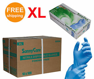 SunnyCare-8804-Nitrile-Disposable-Gloves-Powder-Free-Non-Latex-Vinyl-Exam-XL