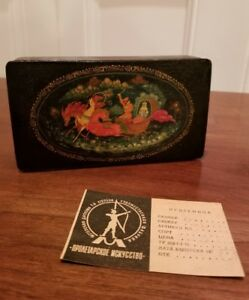 VINTAGE-MSTERA-RUSSIAN-LACQUER-TRINKET-BOX-ARTIST-SIGNED-USSR-W-ORIG-PAPERWORK