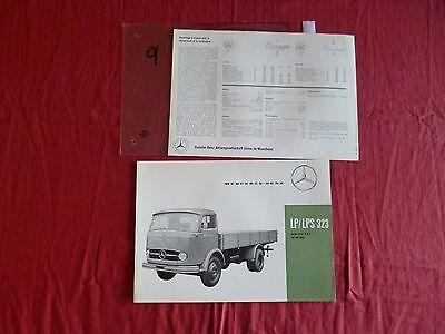 Q / Mercedes Prospectus En Français Lp/lps 323 Mai 1961 Fijn Vakmanschap