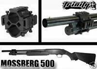 Mossberg 500/maverick 88 Shotgun Mount Tactical Weaver Rail Scope Black Anodize.